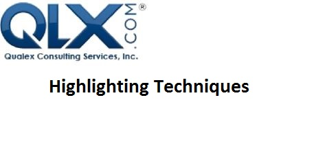 HighlightingTechniques